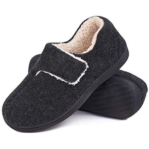 MENS TOUCH CLOSE COMFORT DIABETIC ORTHOPAEDIC SLIPPERS INDOOR HOUSE SHOES SIZE