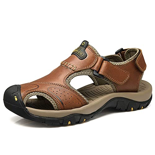rismart Boys Closed Toe Athletic Outdoor Casual Sandals