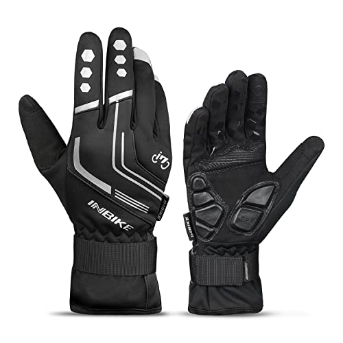 US Cycling Gloves Full Finger Mountain Bike Bicycle Winter Warm Gel Padded Glove