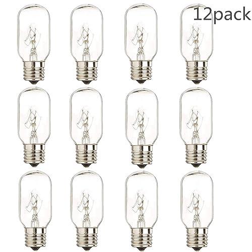 15 Pack,15 Watt Wax Warmer Bulbs for Scentsy Plug-in Nightlight Warmer Wax Diffuser and Candle Warmers Plug-in Fragrance Wax Melt Warmer,E12 Base//120 Volt