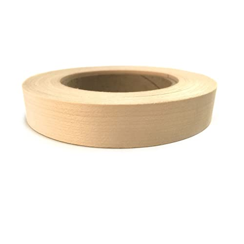 Easy Application. Red Oak 2 X 50 Wood Veneer Edge Banding Preglued Flexible Wood Tape Sanded to Perfection Iron on with Hot Melt Adhesive