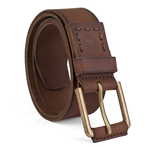 Hagora Mens Dark Maroon Sturdy Full Grain Leather 1.5 Wide Snap System Belt
