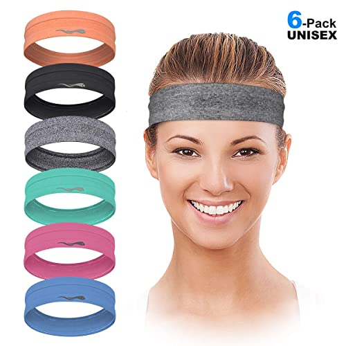 Sports Headbands for Women /& Men Moisture Wicking Athletic Stretchable Sweatband