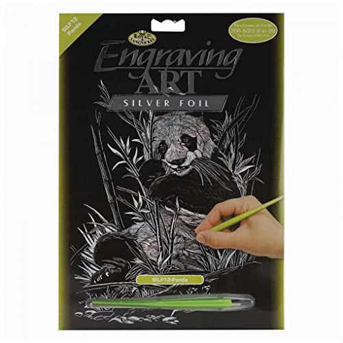 Silver ROYAL BRUSH Royal Langnickel 8-Inch by 10-Inch Foil Engraving Art Blank Boards