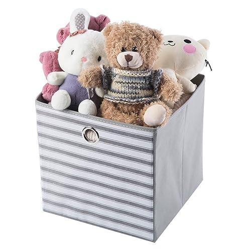 ba377615b1c3 Buy iFlower Foldable Fabric Basket Bin Collapsible Shelves Storage ...