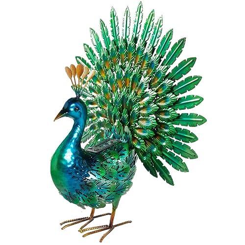 Buy Chisheen Solar Peacock Statue Metal Yart Art With Solar Light Outdoor Garden Statues And Sculpture Online In Thailand B07t5d52sj