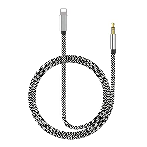 Black Male to Female Audio Cable,Jeselry 4 Pole Hi-Fi Extension Stereo Sound 3.5mm Aux Cable Adapter//Auxiliary Cable//Aux Cord Compatible All 3.5mm-Enabled Devices for car 1.2M