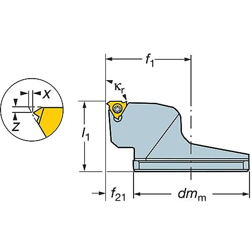 Modular Threading Cutting Unit Heads System Size CoroThread 266 C6 Series Name 5730202
