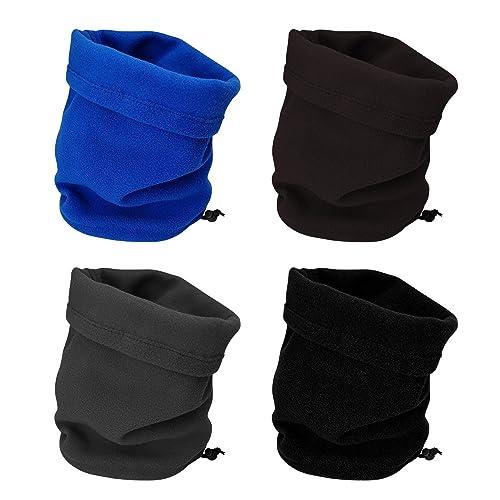 Men Women Windproof Neck Tube Warmer Snood Long Scarf Winter Fleece Face Mask UK
