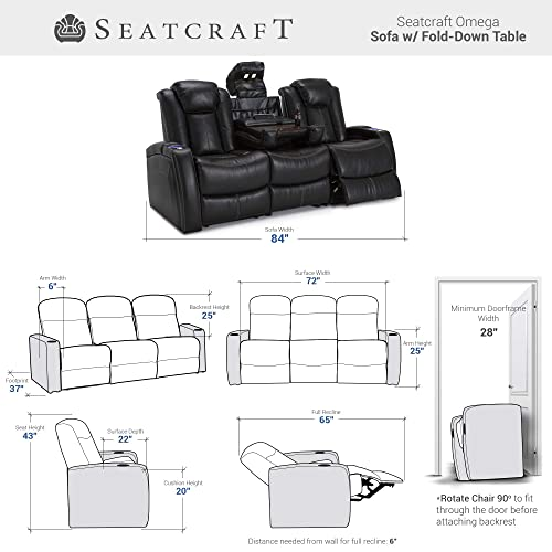 Cool Buy Seatcraft 162E51151459 V1 Omega Leather Gel Home Theater Ocoug Best Dining Table And Chair Ideas Images Ocougorg