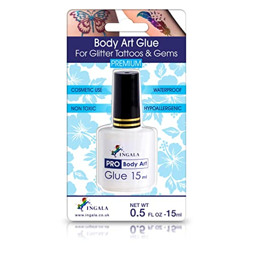 Ingala Premium Body Adhesive Body Glue For Glitter Tattoos Double Size 0 5fl Oz 15ml Hypoallergenic Dermatologically Tested Body Glue Waterproof Buy Products Online With Ubuy Thailand In Affordable Prices B07wp4rqw6