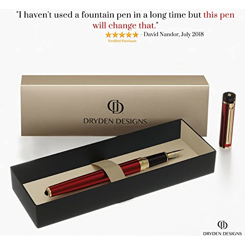 EMERALD GREEN Dryden Luxury Fountain Pen Modern Classic Limited Edition|