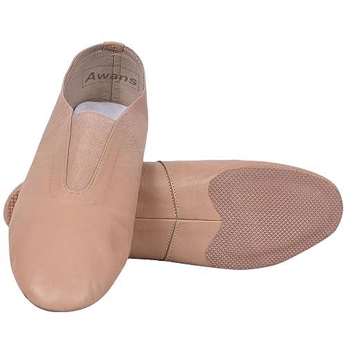 Tan Baby 7 Adult 11 Roch Valley Neoprene Slip on Split Sole Jazz Shoes
