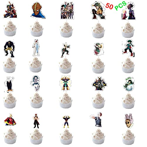 Buy My Hero Academia Cake Toppers Mha Brithday Party Supplies 50 Pack Diy Cupcake Toppers For Anime Party Favors Cake Decoration Online In Thailand B07qxk35pd