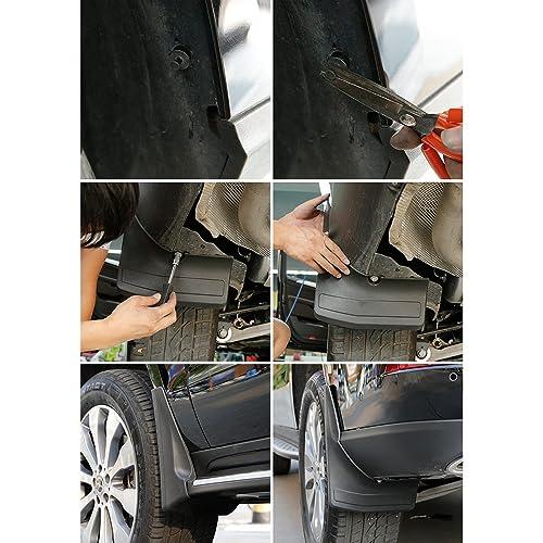 SPEEDLONG 4Pcs Car Mud Flaps Splash Guards Fender Mudguard for Volkswagen Jetta 2015 2016 2017 2018