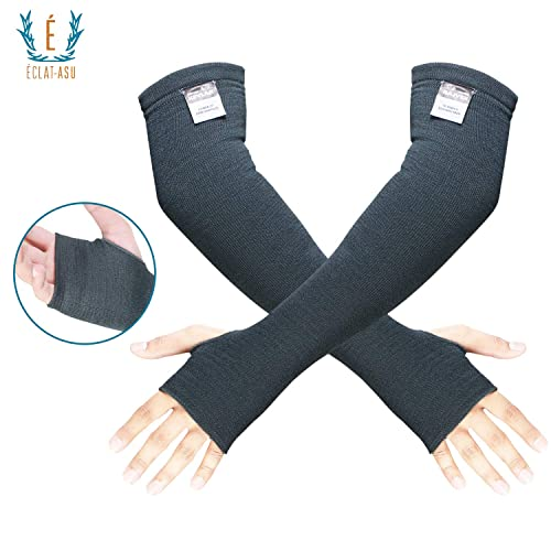 """18/"""" Black Cut//Heat Resistant Protective Arm Sleeves made with Kevlar 1 Pair"""