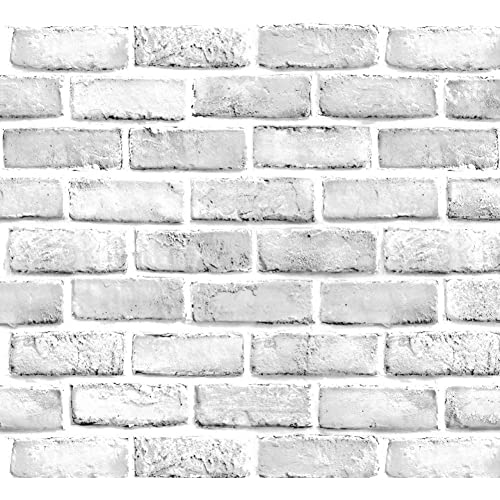 Buy Yancorp White Gray Brick Wallpaper Grey Self Adhesive Contact Paper Home Decoration Peel And Stick Backsplash Wall Panel Door Stickers Christmas Decor 18 X394 Online In Thailand B07m9bnp65