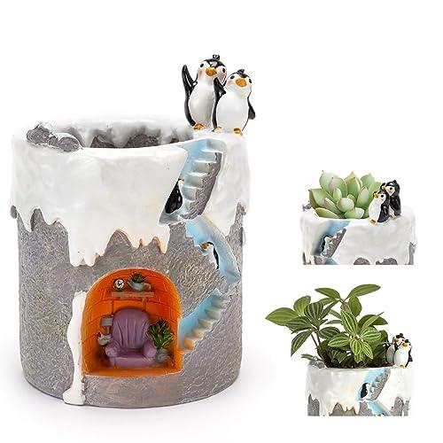 Cute Flower Pots Indoor Penguin Planter
