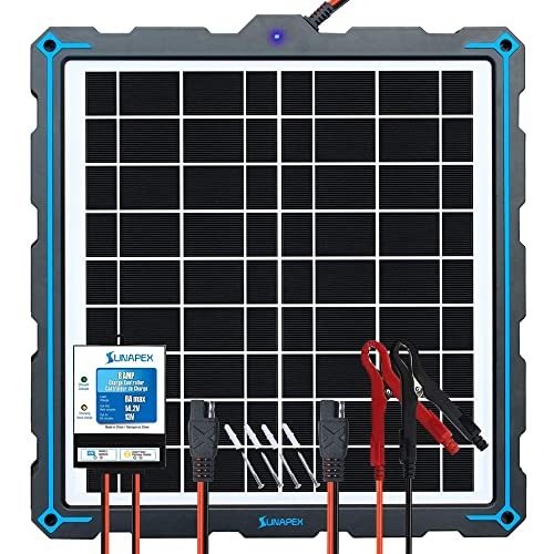 3-Stages Charging Built-in MPPT Charge Controller RV ATV etc. 20 Watts Solar Panel Trickle Battery Maintainer for Car Boat Sun Energise Waterproof 12V 20W Solar Battery Charger Pro
