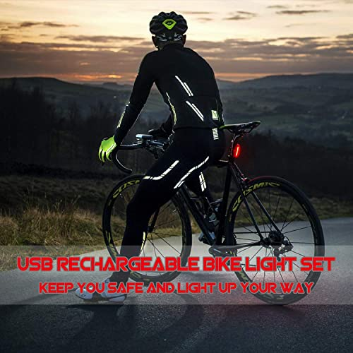 rear ruby light set Rechargeable Front very bright lamp mountain road bike