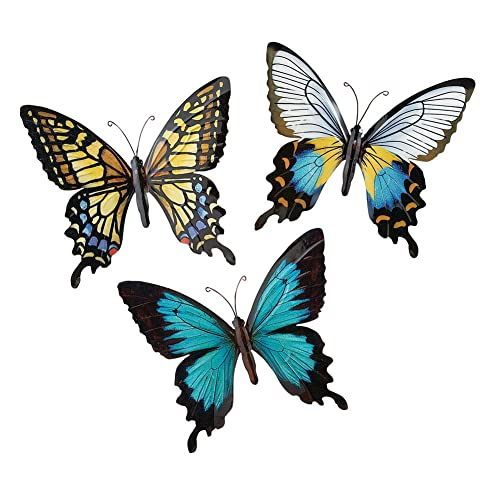 Metal Butterfly Wall Art Decoration Set Of 3 Fauna Insect Garden Theme Décor Buy Products Online With Ubuy Thailand In Affordable Prices B07b1xgncr