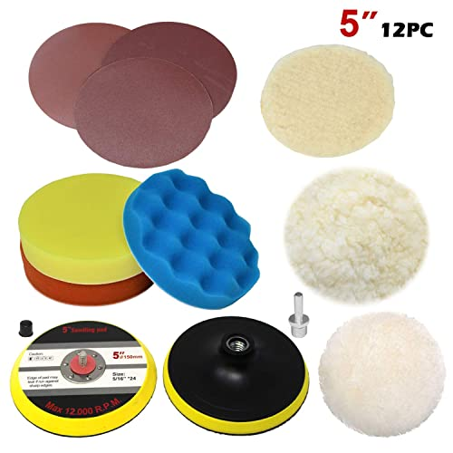 6pc 6Inch Red Soft Polishing Buffer Pad Foam Pad Buffing pad for Car Polisher
