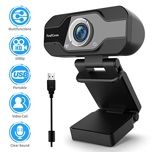 720P USB PC Skype Web Cam with Microphone Plug and Play for YouTube Video Broadcasting Video Calling and Recording for Computer Laptop Desktop Compatible with Windows 7//8//10 CHENGCHI HD Webcam