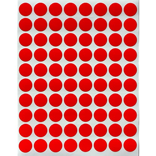 Color Coding Dots 2 Inch in Roll 50mm Round Circles labels 5cm 600 Pack