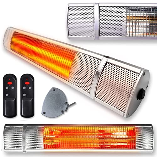 Buy Futura Deluxe Wall Mounted Electric Infrared Outdoor Garden Patio Bathroom Heater 2000w Waterproof Remote Control Included Online In Thailand B01gm28rj0