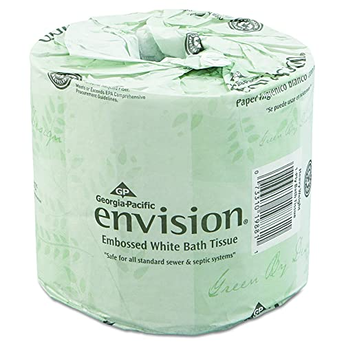 Envision 19880 01 White 2 Ply Embossed