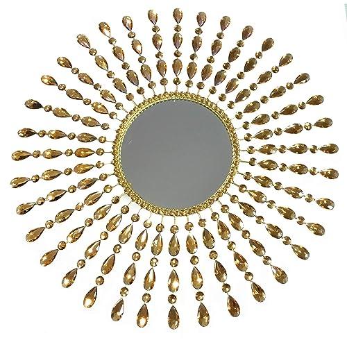 Buy Meida Fancy Crystal Sunburst Wall Mirror Large Wall Hanging Decor Online In Thailand B07hghscbk