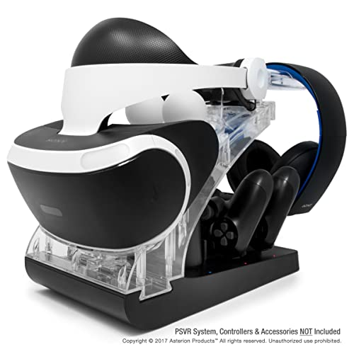 Psvr Charging Stand With Optional Illumination By Asterion Products Rapid Ac Charger Display Holds The Playstation Vr Headset 2 Dualshock 4 2 Move Controllers Headphones Buy Products Online With