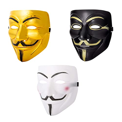 Anonymous V pour Vendetta Masque Guy Fawkes Halloween Fancy Dress Party UK