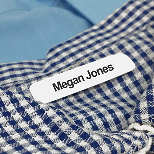 100 personalised clothing labels Kids School Ideal for Children/'s School Uniform Customizable labels. clothes name labels THERMO-ADHESIVE Iron-on Fabric Labels to Mark Your Clothes
