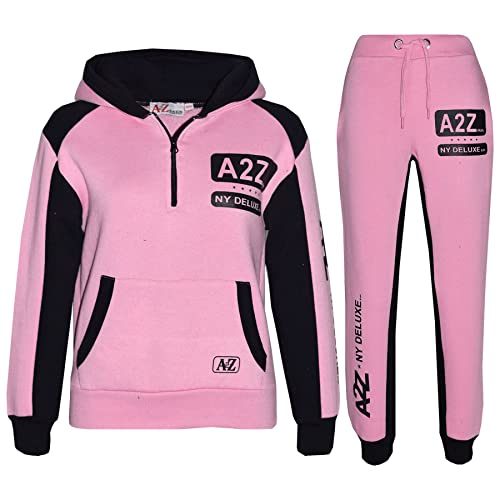Kids Tracksuit Girls Designer/'s NY Deluxe Edition Zipped Top Bottom Jogging Suit