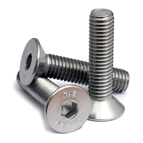 Alloy Steel Socket Cap Screw Pack of 50 Zinc Plated Finish 50mm Length Internal Hex Drive Imported Partially Threaded Meets DIN 912 M6-1 Metric Coarse Threads