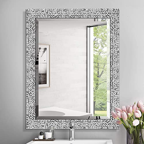 Mirror Trend 24 X 32 Inches Silver, Large Wall Mirrors For Bathroom