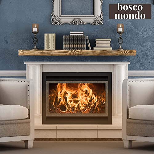 Ben Simpson Furniture Rustic Oak Beam Fireplace Mantel 10 x 15 x 90cm Rustic Oak