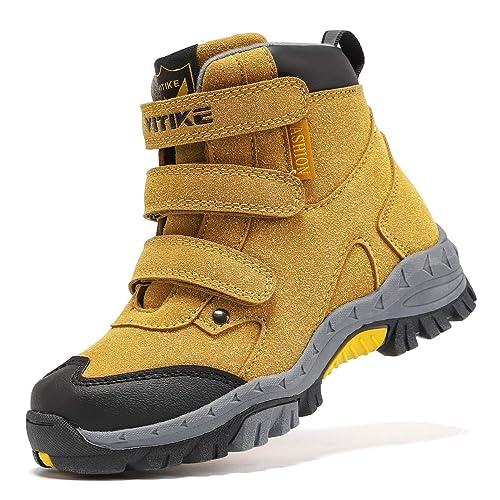 Buy Kids Hiking Boots Boys Girls Outdoor Walking Climbing Sneaker  Comfortable Non-Slip Snow Shoes Hiker Boot Antiskid Steel Buckle Sole  Online in Thailand. B07YZFKB2S