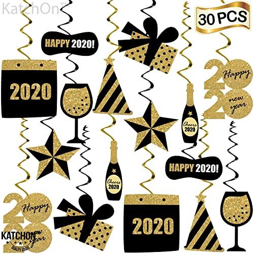Happy New Year Hanging Swirls Pack Of 30 New Years Eve Party Supplies 2020