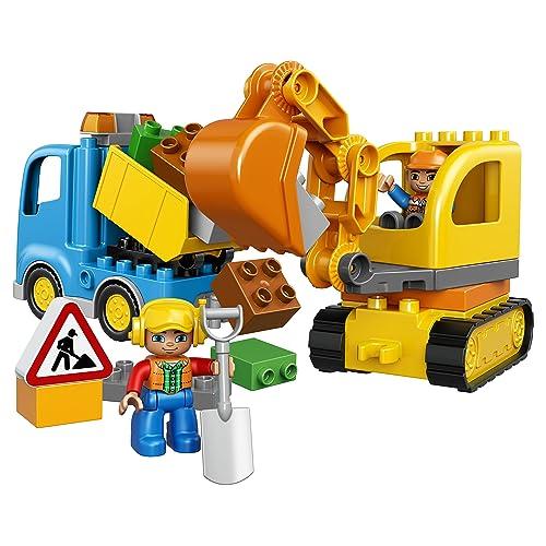 LEGO DUPLO Town Truck /& Tracked Excavator 10812 Dump and Excavator...