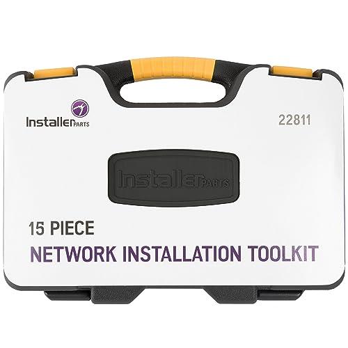 Includes LAN Data Tes... InstallerParts 15 Piece Network Installation Tool Kit