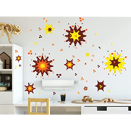 Buy Create A Mural Video Game Explosion Wall Decals Boys Room Decor Vinyl Graphic Wall Art Peel N Stick Online In Thailand B07srtqxz6