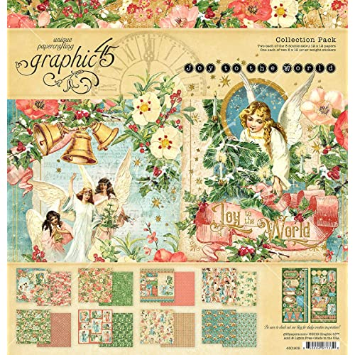 Assorted us:one Size GRAPHIC 45 4502059 Farmhouse Collection 12X12 Pack