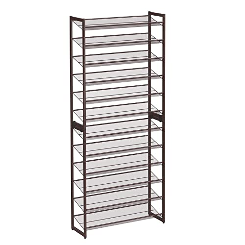 Buy Songmics 12 Tier Shoe Rack Set Of 2 Stackable 6 Tier Shoe Organizers 48 60 Pairs Of Shoes Large Capacity Metal Mesh Shoe Shelf Storage Adjustable Flat Or Angled Shelves Bronze Ulmr12a Online In
