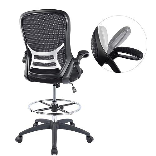 High Back Mesh Ergonomic Drafting, High Office Chair For Standing Desk
