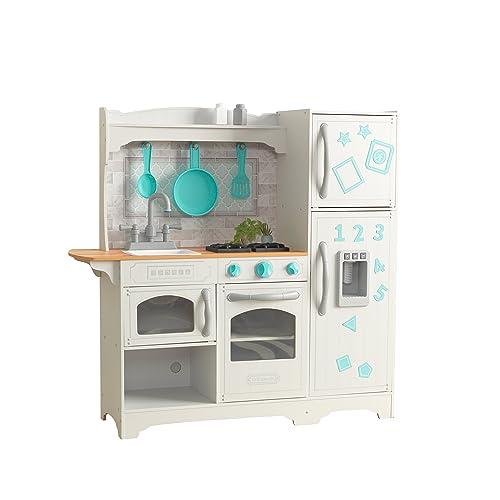 Kidkraft Large Pastel Wooden Play Kitchen With 3 Piece Accessories Pretend Play Kitchens Aidinsalih Toys Hobbies