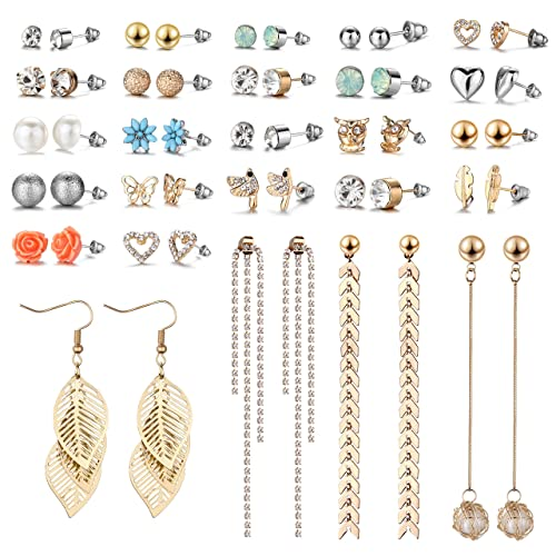 12 Pairs Drop Dangle Earrings Golden Silvery Fashion Jewelry Fringed Tassel Character Exaggerated Earrings Set for Women Girls