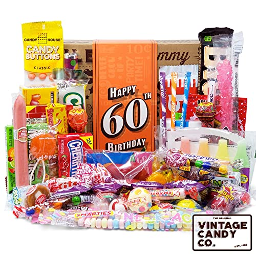 Buy Vintage Candy Co 60th Birthday Retro Candy Gift Box 1959 Decade Nostalgic Candies Fun Gag Gift Basket For Milestone Sixtieth Birthday Perfect For Man Or Woman Turning 60