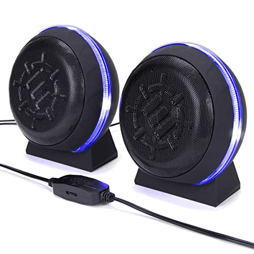 GOgroove BassPULSE 2MX Computer Speakers with USB Cable and 2.0 Channel Sound